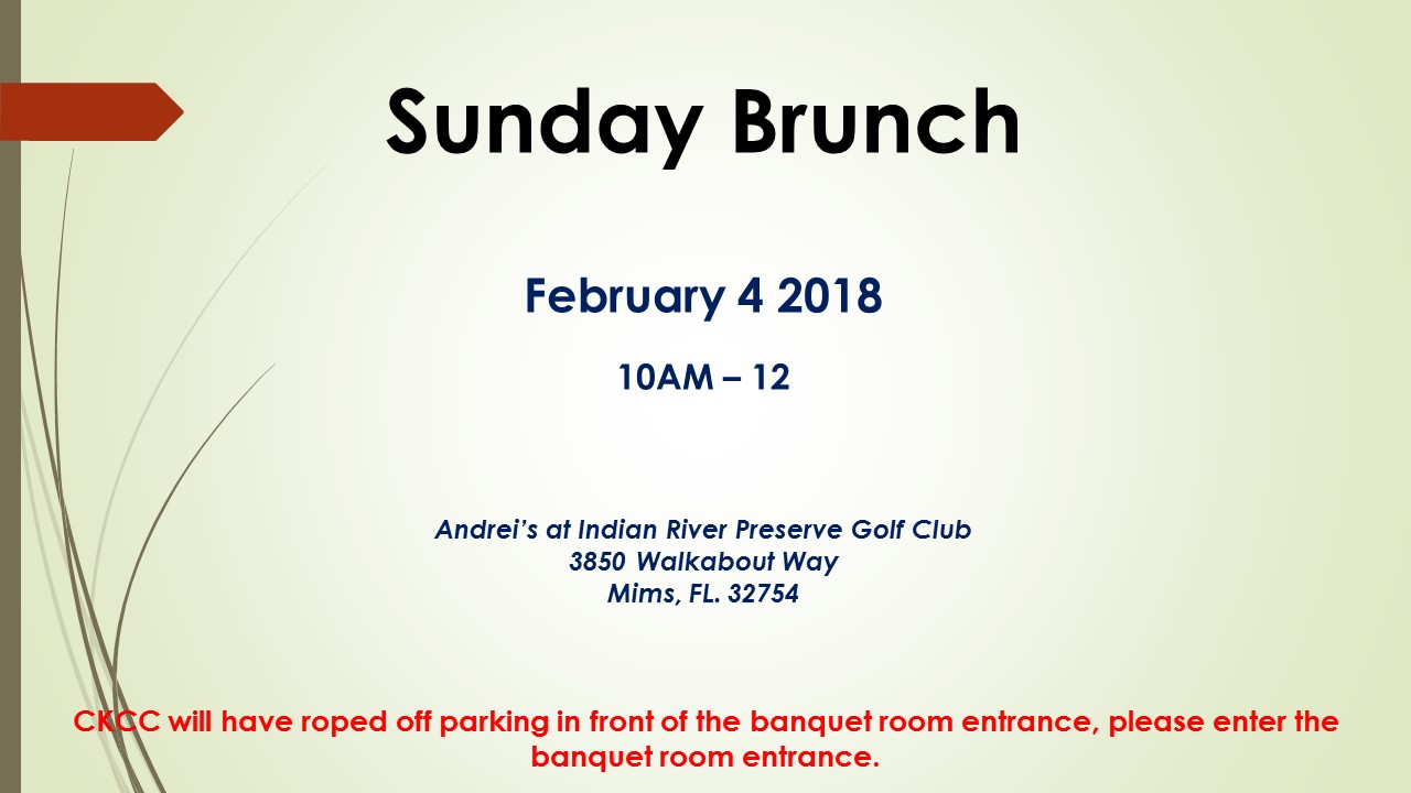Sunday Brunch Feb 2018